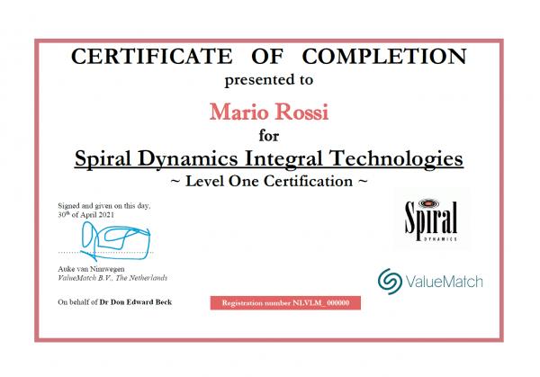 Spiral Dynamics® Integral Certificazione